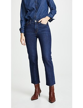 The Daily Crop High Rise Straight Jeans by M.I.H Jeans