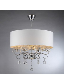 Warehouse Of Tiffany Chandelier Ceiling Lights  Silver/White by Warehouse Of Tiffany
