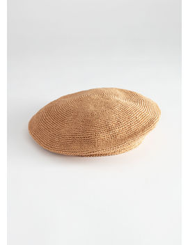 Woven Straw Beret by & Other Stories