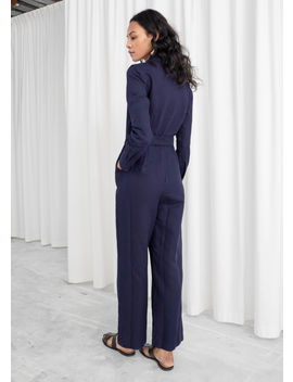 Long Sleeve Wrap Jumpsuit by & Other Stories