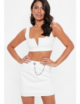 White Chain Detail Mini Skirt by Missguided