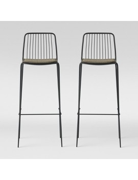 Set Of 2 Sodra Square Seat Wire Barstool   Project 62™ by Project 62