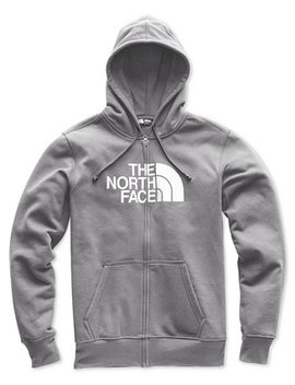 Men's Half Dome Logo Print Full Zip Hoodie by The North Face