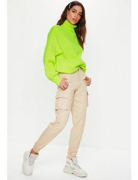Premium Neon Green Roll Neck Boyfriend Sweater by Missguided