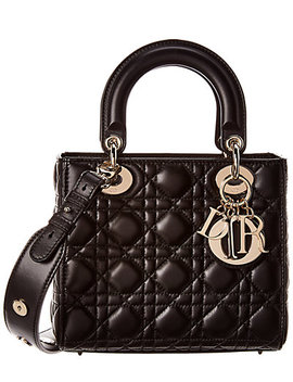 Dior Small Quilted Calfskin Leather Lady Dior Shoulder Bag by Christian Dior
