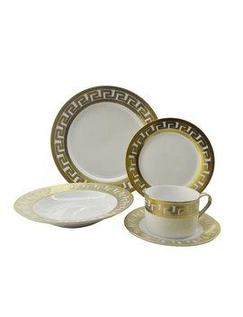 Inspired Versace 40 Piece Dinnerware Set, Service For 8 by Three Star Im/Ex Inc.