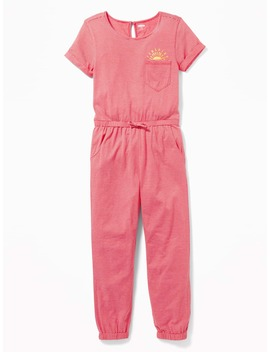 Striped Jersey Jumpsuit For Girls by Old Navy