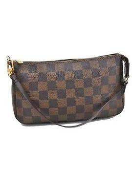 Auth Louis Vuitton Damier Pochette Accessoires Pouch N51985 Lv 67188 by Louis Vuitton