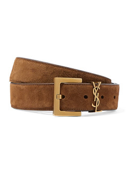 Embellished Suede Belt by Saint Laurent