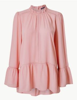 High Neck Long Sleeve Blouse by Marks & Spencer