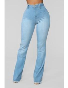 Valentina High Rise Flare Jeans   Light Blue Wash by Fashion Nova
