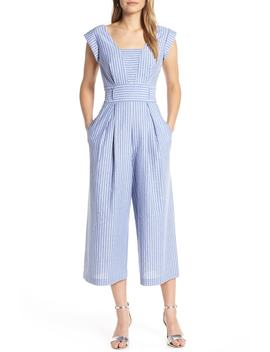 Square Neck Crop Jumpsuit by 1901
