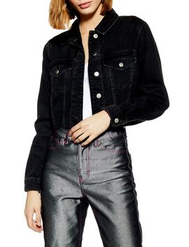 Tilda Hack Denim Jacket by Topshop