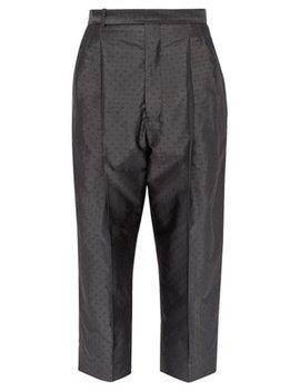 Polka Dot Jacquard Silk Blend Trousers by Haider Ackermann