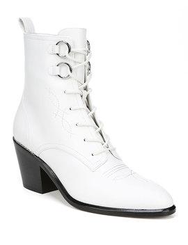 Dakota Leather Lace Up Boots by Diane Von Furstenberg