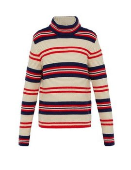 Striped Wool Blend Sweater by Gucci