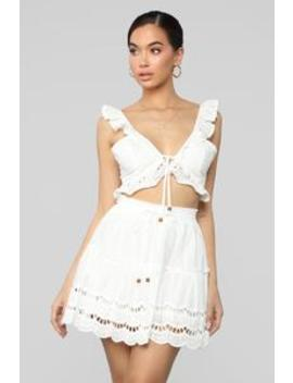Ready For Some Fun Skort Set   White by Fashion Nova