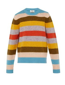 Kai Block Striped Knitted Wool Sweater by Acne Studios