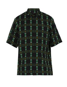 Snake Print Poplin Shirt by Fendi
