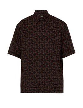 Devil Print Poplin Shirt by Fendi