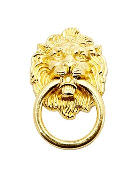 5pcs Gold Lion Head Pulls For Dresser, Drawer, Cabinet, Door Handles Knobs (1.65x2.64 Inch) by Mgoodoo