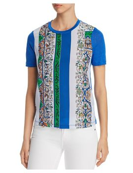 Printed Front Tee by Tory Burch