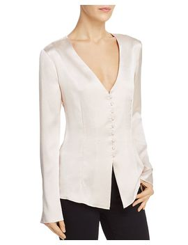 Madora Textured Satin Top by Joie