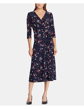 Floral Print Midi Dress by Lauren Ralph Lauren