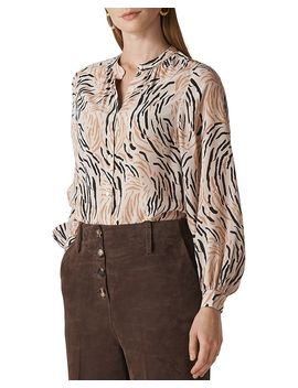 Reed Print Silk Shirt by Whistles
