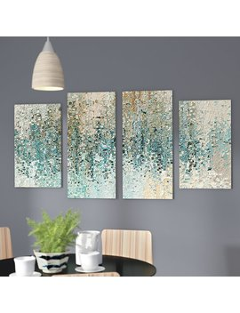 'revealed' 4 Piece Framed Gallery Wall Set On Canvas by Mercury Row