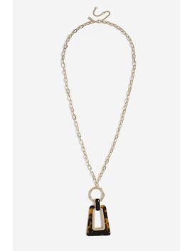 **Tortoiseshell Drop Necklace by Topshop