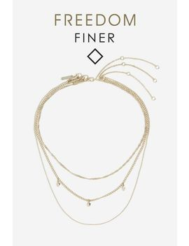 **Freedom Finer Spike Multirow Necklace by Topshop