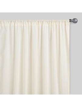 Beige Sleeve Top Cotton Sheer Voile Curtains, Set Of 2 by World Market