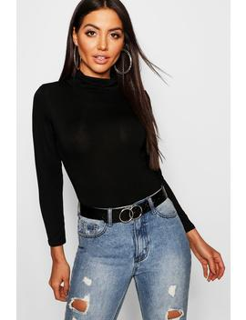 Turtle Neck Long Sleeve Top by Boohoo