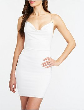 Chainlink Cowl Bodycon Dress by Charlotte Russe