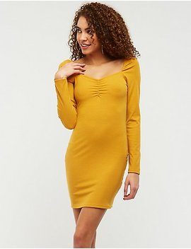 Cinched Bust Bodycon Dress by Charlotte Russe