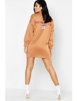 Beverly Hills Front & Back Print Sweat Dress by Boohoo