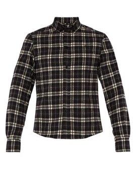Checked Slim Fit Cotton Flannel Shirt by Balenciaga