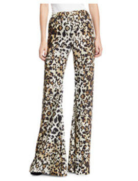 Ordell Leopard Print Flare Leg Pants by Alexis