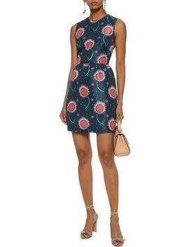 Printed Faille Mini Dress by Red Valentino