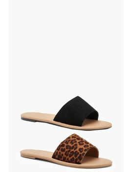 2 Pack Basic Sliders by Boohoo