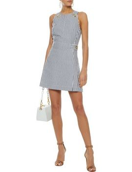 Striped Denim Mini Dress by Derek Lam 10 Crosby