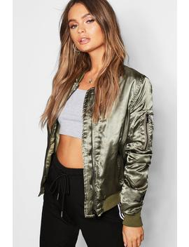 Satin Bomber by Boohoo