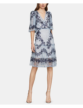 Embroidered Lace Fit & Flare Dress by Bcbgmaxazria