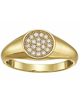 Pave Signet Ring by Shashi