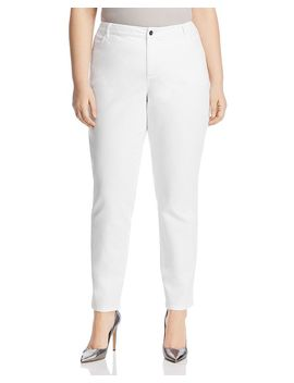Curvy Slim Jeans In White by Lafayette 148 New York Plus