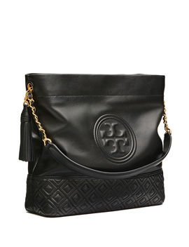 Fleming Quilted Leather Hobo Bag by Tory Burch