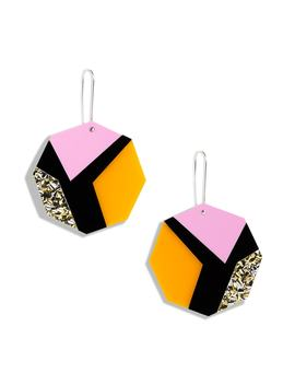 Anita Colorblock Drop Earrings by The Accessory Junkie