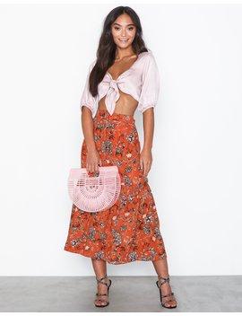 Folk Floral Skirt by Glamorous
