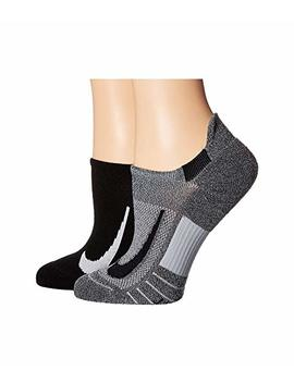 Multiplier Running No Show Socks 2 Pair Pack by Nike